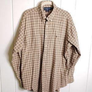 Ralph Lauren Blake Plaid Button Down Oxford Shirt